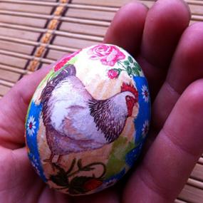 Декупаж на пасхальных яйцах