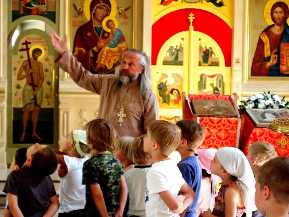 Знакомство детей с устройством храма