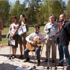 Празднование Дня Победы 9 мая 2014 года в селе Макарово.