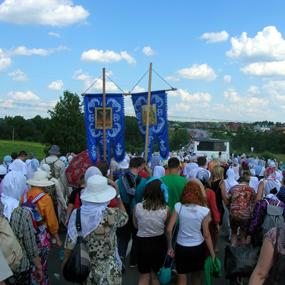 Крестный ход из Хотьково в Сергиев Посад