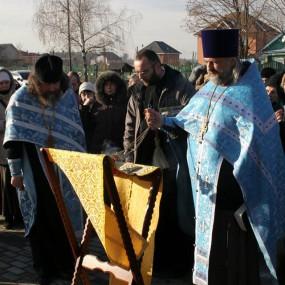 Молебен около часовни в г.Чероноголовка 26 октября 2014г.