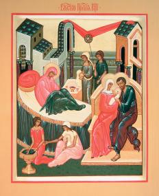 Икона «Рождество Пресвятой Владычицы нашей Богородицы и Приснодевы Марии»