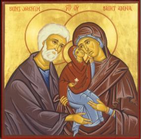 Икона «Праведные Богоотец Иоаким и Анна»