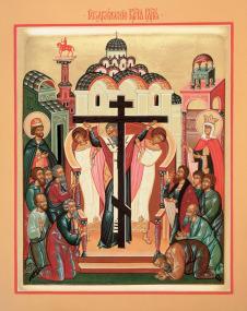 Икона «Воздвижение Честного и Животворящего Креста Господня»