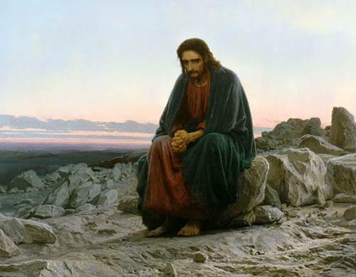 Картина И.Н.Крамского. Христос в пустыне.