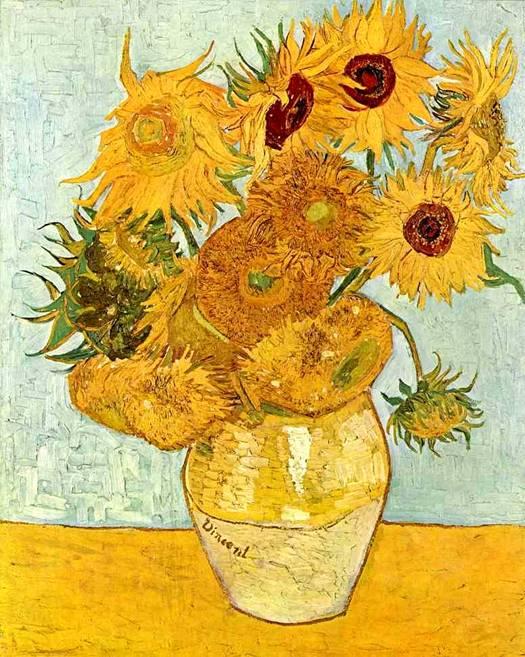 Картина Ван Гога «Подсолнухи»