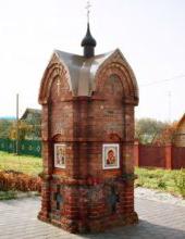 Придорожная часовня-столп в селе Макарово