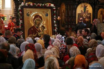 Встреча списка Иверской иконы Божьей Матери со святой горы Афон