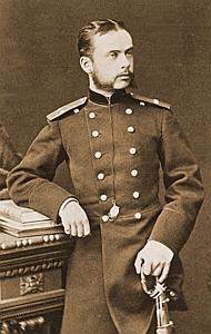 Гвардейский офицер-артиллерист Леонид Чичагов, 1870-е годы.