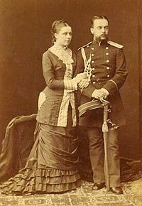 Леонид Михайлович Чичагов с женой Нататьей Николаевной