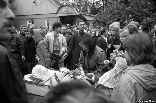 Похороны отца Александра Меня