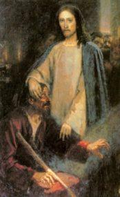 Картина «Исцеление слепорожденного Иисусом Христом». Василий Иванович Суриков.