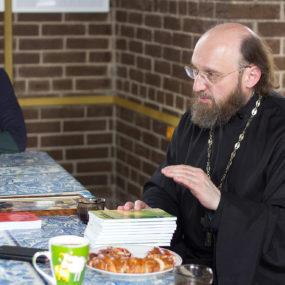 Встреча с Игуменом Ионой (Займовским) и психологом Натальей Милениной.