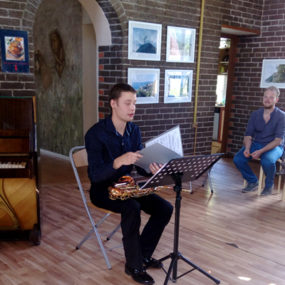 Концерт классической музыки. Надежда Кулешова (фортепиано) и Денис Козьминых (саксофон).