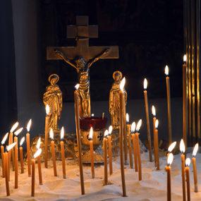 Панихида в храме Святителя Николая (с.Макарово)