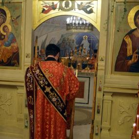 Соборное богослужение в Никольском храме