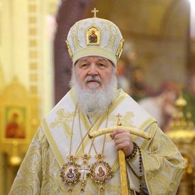 31 декабря 2017 года Святейший Патриарх Кирилл совершил молебное пение на новолетие