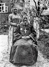 С супругой Елизаветой Константиновной