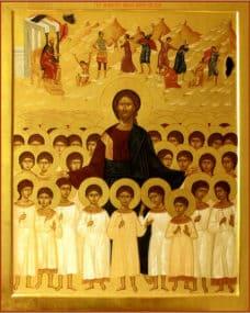 Мученики 14 000 младенцев, от Ирода в Вифлееме избиенные