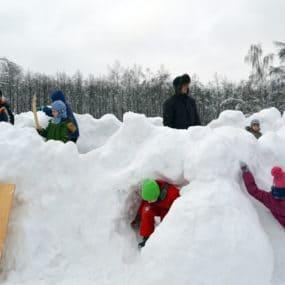 Масленичные гулянья, организованные скаутами дружины «Черноголовль».
