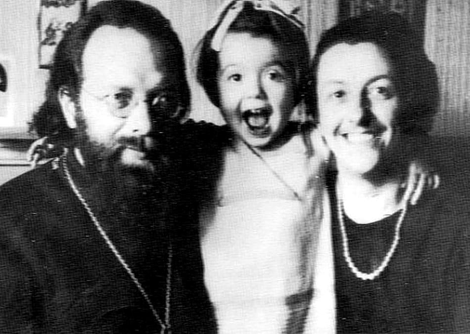 Отец Дмитрий Клепинин, его жена Тамара и их дочь Елена. Париж, 1940