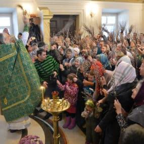 Всенощное бдение и Божественная Литургия в Никольском храме с.Макарово. Вход Господень в Иерусалим.