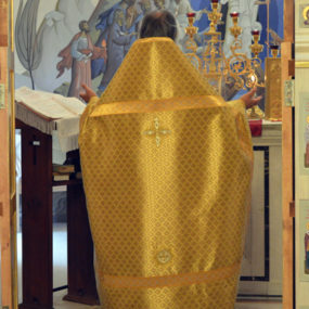 Божественная литургия. Свято-Никольский храм села Макарово.