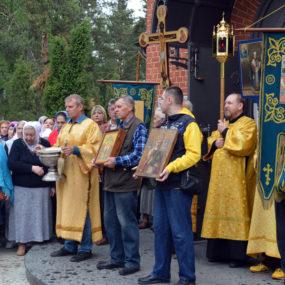 Крестный ход. Свято-Никольский храм села Макарово.