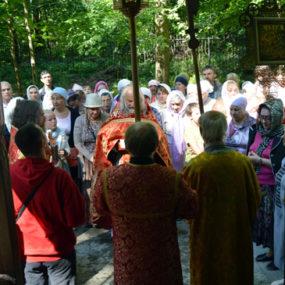 Крестный ход в храме вмч. Пантелеимона (г.Черноголовка)