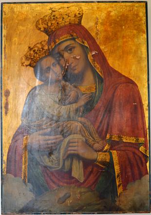 Почаевская икона Божией Матери в храме Святителя Николая (с. Макарово)