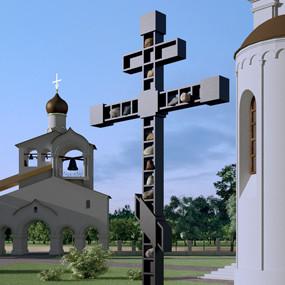 Поклонный Крест в память репрессированных в советские годы.