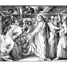 Об исцелении парализованного человека