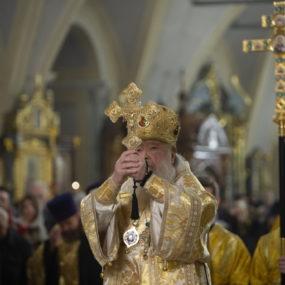 Молебен на новолетие в Новодевичьем монастыре