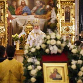 Святейший Патриарх Кирилл совершил в Храме Христа Спасителя молебное пение на новолетие