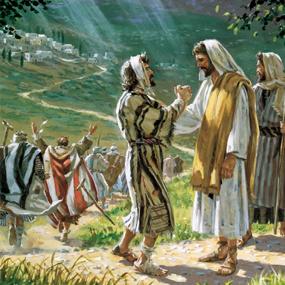Евангелие от Луки об исцелении десяти прокаженных.