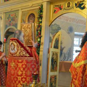 Пасхальная вечерня. Свято-Никольский храм с.Макарово.