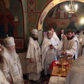 Великое освящение Знаменского храма городского округа Серебряные Пруды