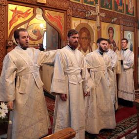 Рукоположение в сан диакона Иоанна Анисимова