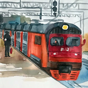 <b>№75.</b> Пригородные поезда.