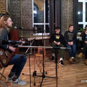 Творческий вечер черноголовского поэта и музыканта Корнея Чайчука.