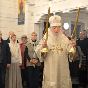 Великое освящение храма в Храме блаженной Ксении Петербургской в деревне Дунино Одинцовского района.