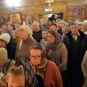 Новогодний молебен в Черноголовке