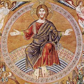 Христос Пантократор и Страшный суд. Мозаика в Баптистерии Сан Джованни во Флоренции. 1300 год