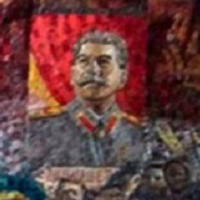 <b>№157.</b> Мозаичное изображение Сталина