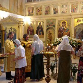 11 июля 2021 года. Всенощное бдение в Свято-Никольском храме в селе Макарово.