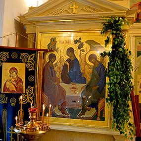 """Икона """"Святая Троица"""" в Свято-Никольском храме с. Макарово."""